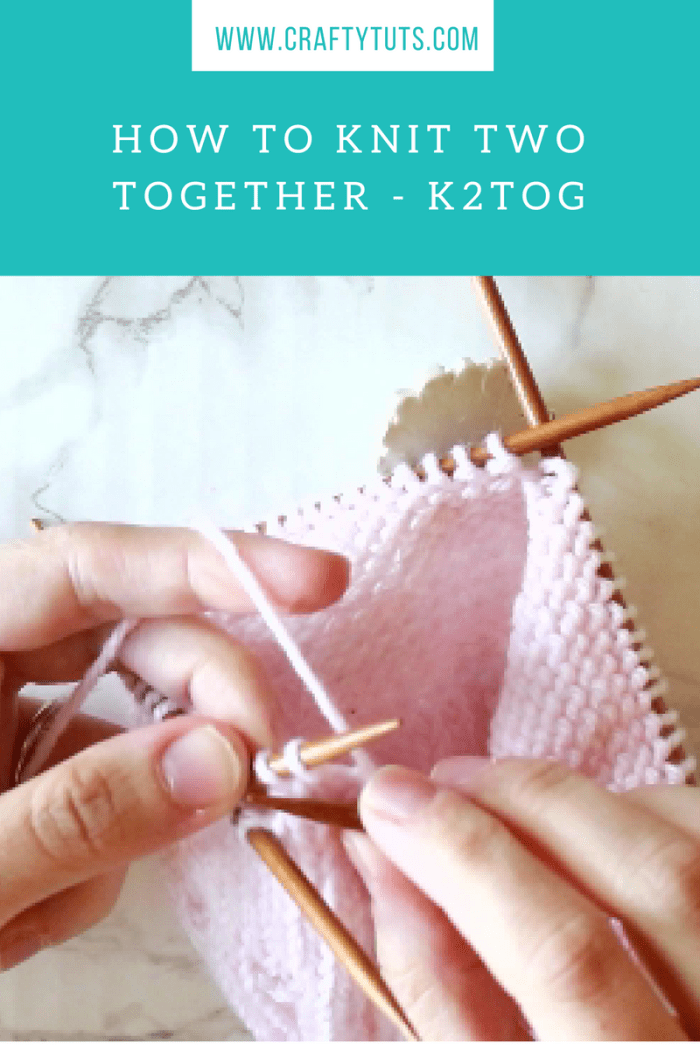 How to Knit Two Together - K2tog video tutorial 1