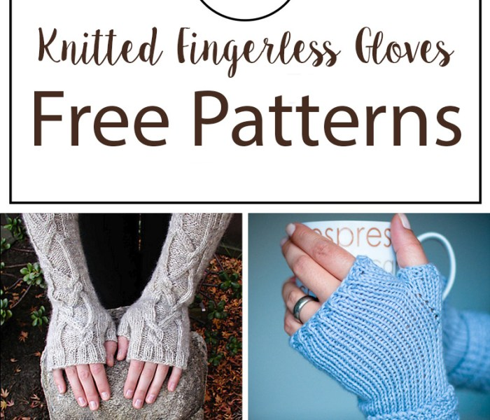 Knitted Fingerless Gloves Free Patterns