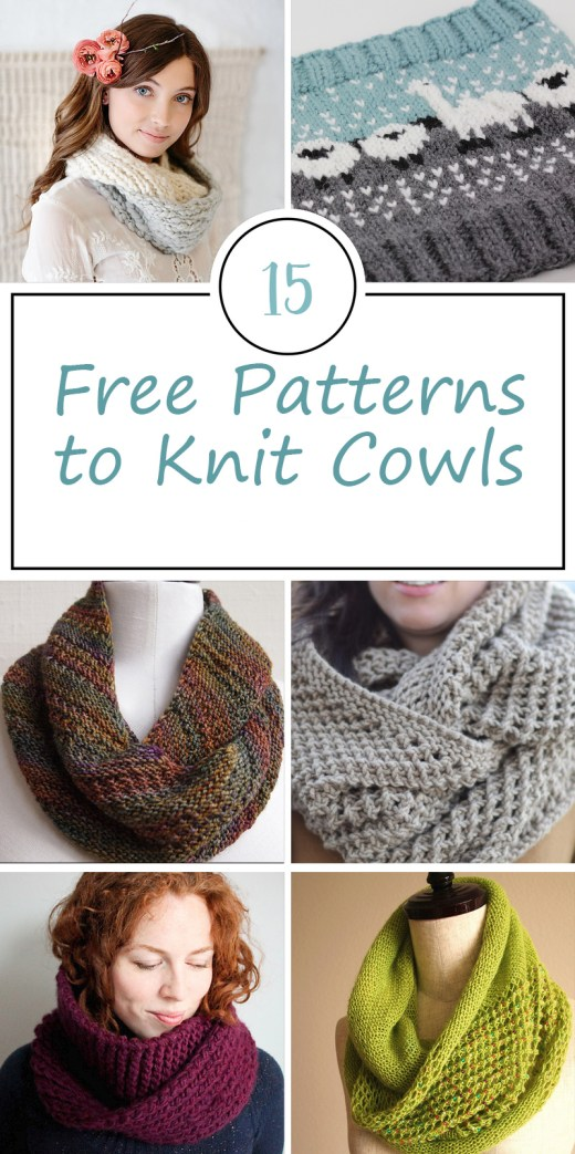 Free Patterns for Knitted Cowls 3