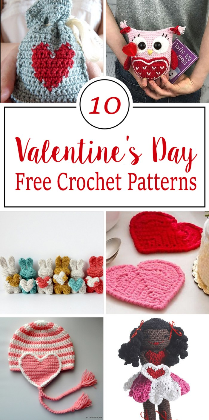 Free Crochet Patterns For Valentines Day Crafty Tutorials