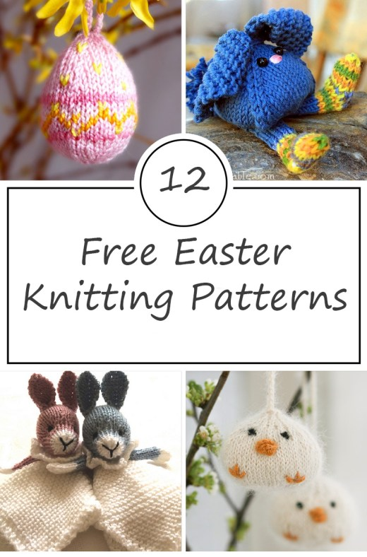 Easter free knitting patterns