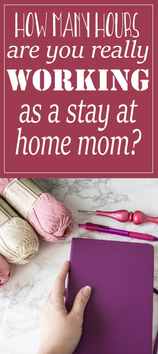 How many hours are you really working on your business as a work at home mom? 1