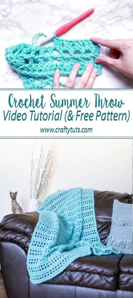 Crochet Summer Throw Video Tutorial: With this video tutorial I will show you how to make a crochet summer throw. Free crocget pattern is included.