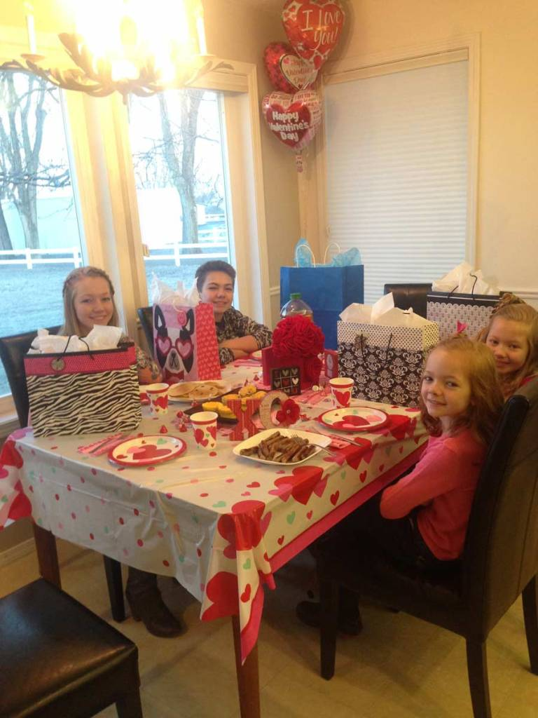 Valentines Day Breakfast and Gifts