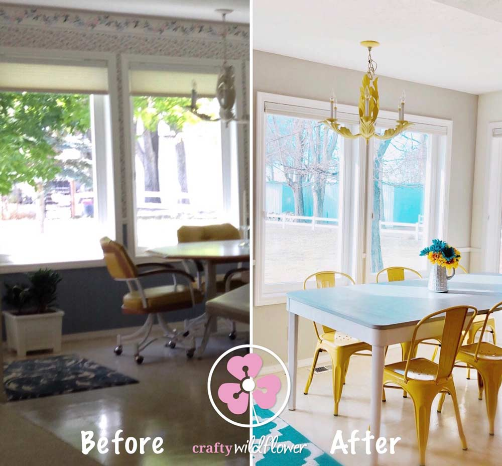Kitchen Dining Makeover – Makeover Monday - Kitchen Dining And Table Makeover