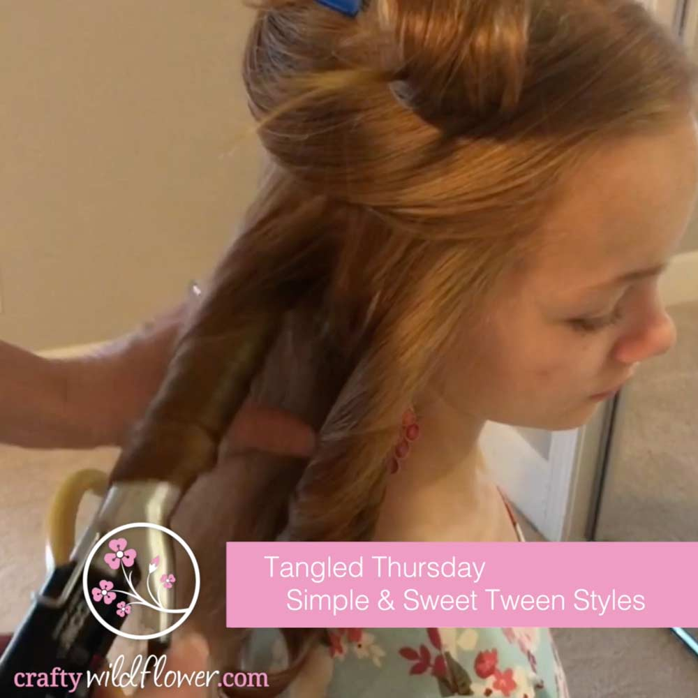 Sweet and Simple Tween Hairstyles - Tangled Thursday