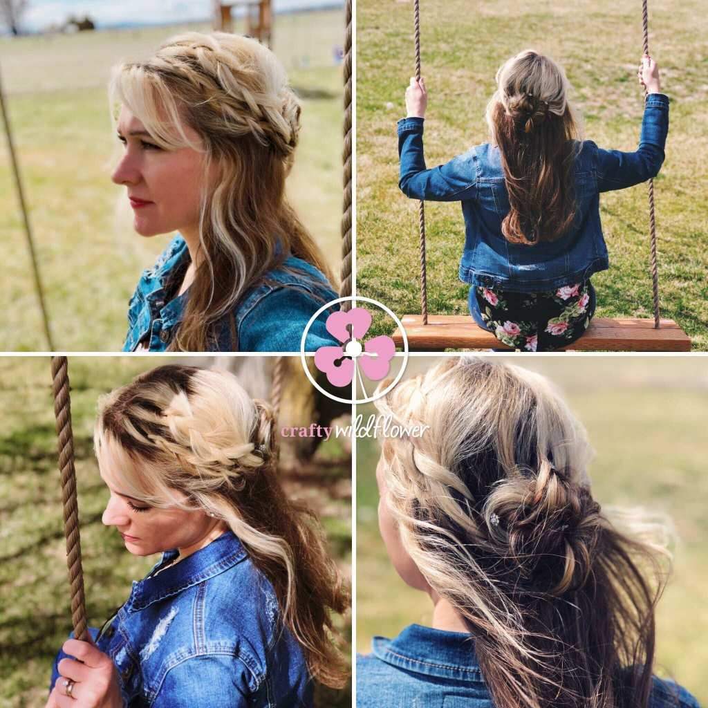 Tangled Thursday-French Braided Half Up Bun