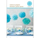 How to make Blue Tissue Paper Flowers – Pom Pom?