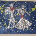 Some Dancing Figures with left over aluminium foils