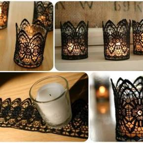 Lace Candle