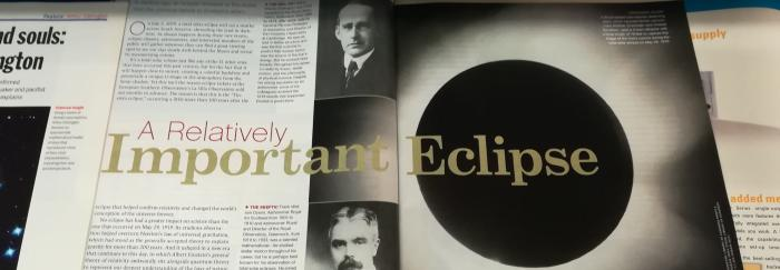 Foto de l'article A Relatively Important Eclipse, Sky & Telescope, May 2019