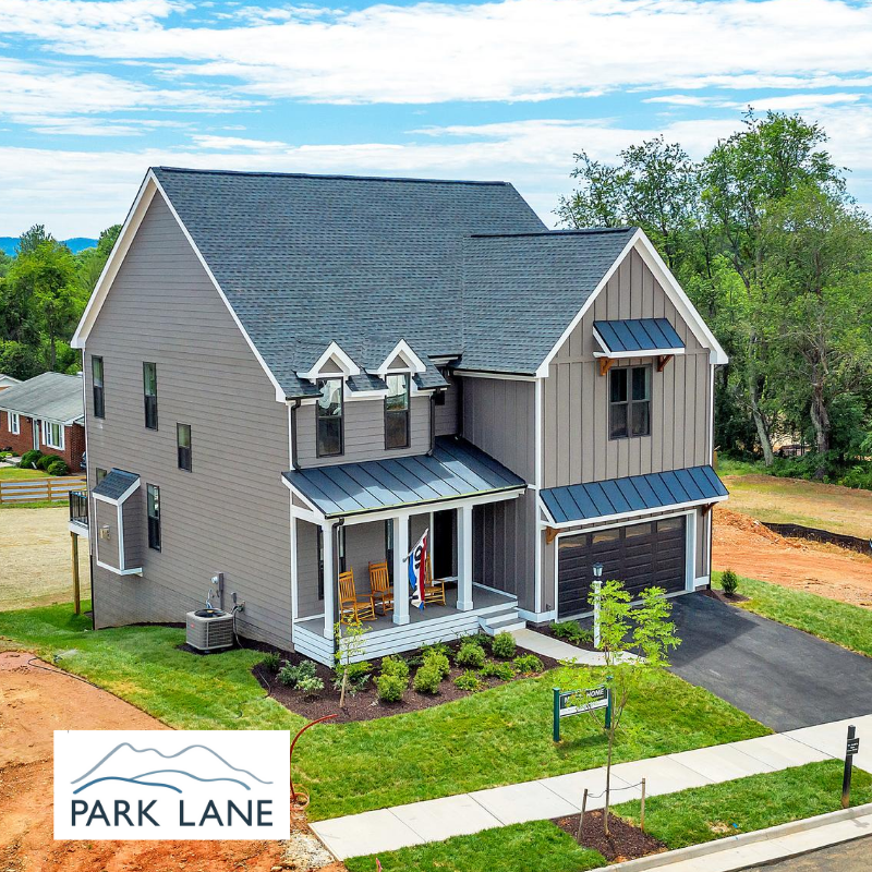 Exterior Photo of Park Lane Model Home built by Craig Builders in Crozet VA