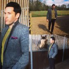 Equestrian style classic tweed