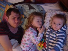2013_02_11 0838 Craig, Ellie and Ben in Bed