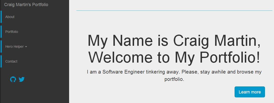 Craig Martin's WordPress Theme