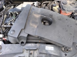 removed plastic engine cover from jaguar x-type