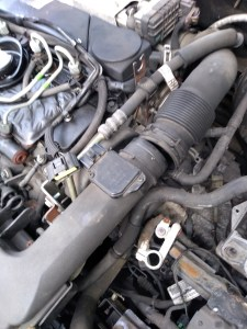 Jaguar air intake pipe