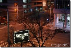 Sixth Avenue Inn view at night