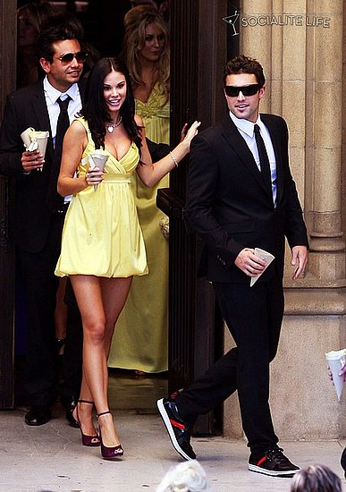 Frankie Delgado, Jayde Nicole, and Brody Jenner leaving the church