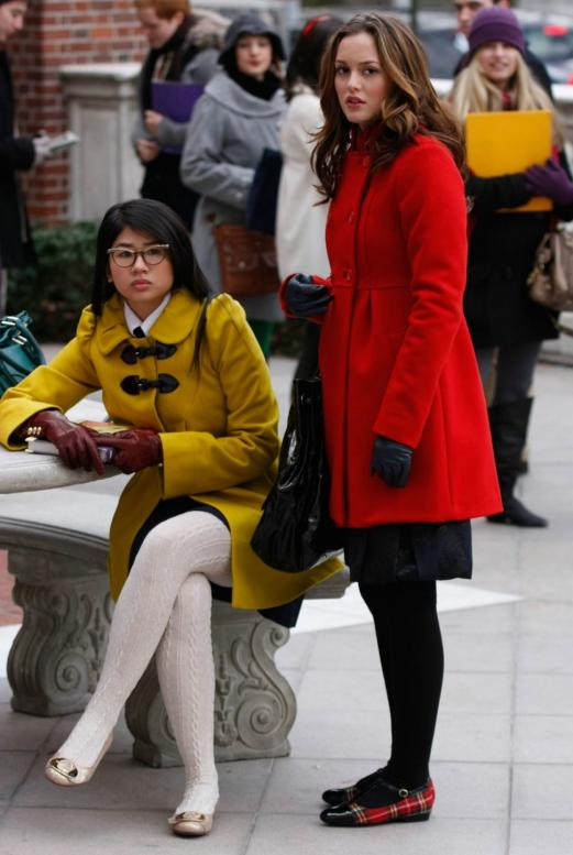 Yin Chang as Nelly Yuki and Leighton Meester as Blair Waldorf