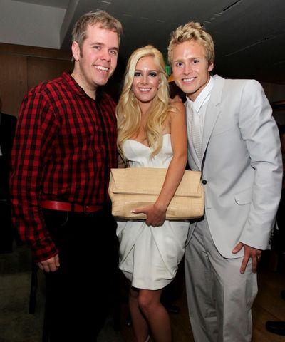 Perez Hilton with the Newlyweds