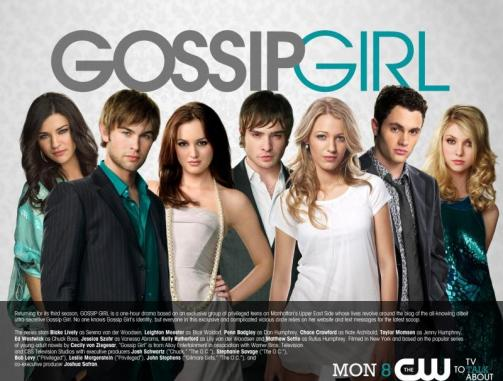 Jessica Szohr (Vanessa), Chace Crawford (Nate), Leighton Meester (Blair), Ed Westwick (Chuck), Blake Lively (Serena), Penn Badgley (Dan), and Taylor Momsen (Jenny)