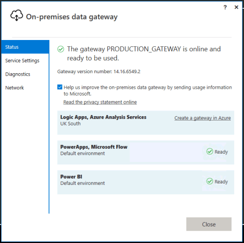 Power BI Data Gateway Configuration