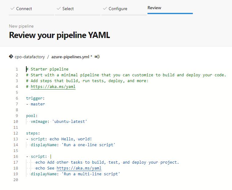 Azure pipeline YAML template