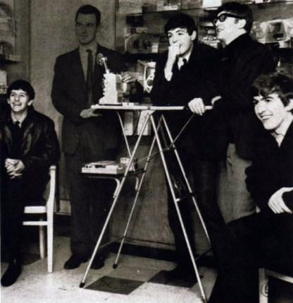 Beatles projecting 8mm cine film