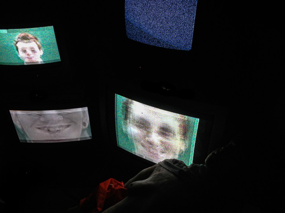 VHS Video Art Installation.Craig Richards Media Lecturer 2014 Wales