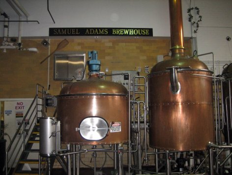 The Samuel Adams brewhouse in Boston brews beer for local distribution and tour groups. Craigslegz.com