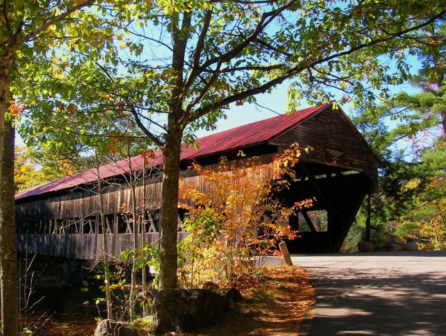 New Hampshire has 56 covered bridges, including this one on the Kancamagus Highway. Craig Davis/Craigslegz.com