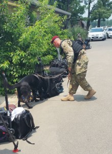 K9-dog-inspects-bags-fort-bragg