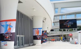 Outside Marlins Park in Miami before the 2017 All-Star Game. (Craig Davis/Craigslegz.com)
