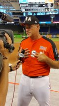 Former pitcher Al Leiter, who was a two-time All-Star, was a coach during 2017 All-Star FanFest. (Craig Davis/Craigslegz.com)