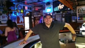 Andy Radjenovich is a bartender and good-will ambassador at 4th Base Restaurant. (Craig Davis/Craigslegztravels.com)