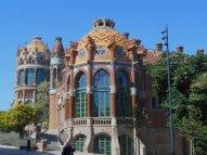 The colorful former Hospital de Santa Creu i de Sant Pau is now a pleasant attraction in the El Raval district. (Craig Davis/Craigslegz.com)