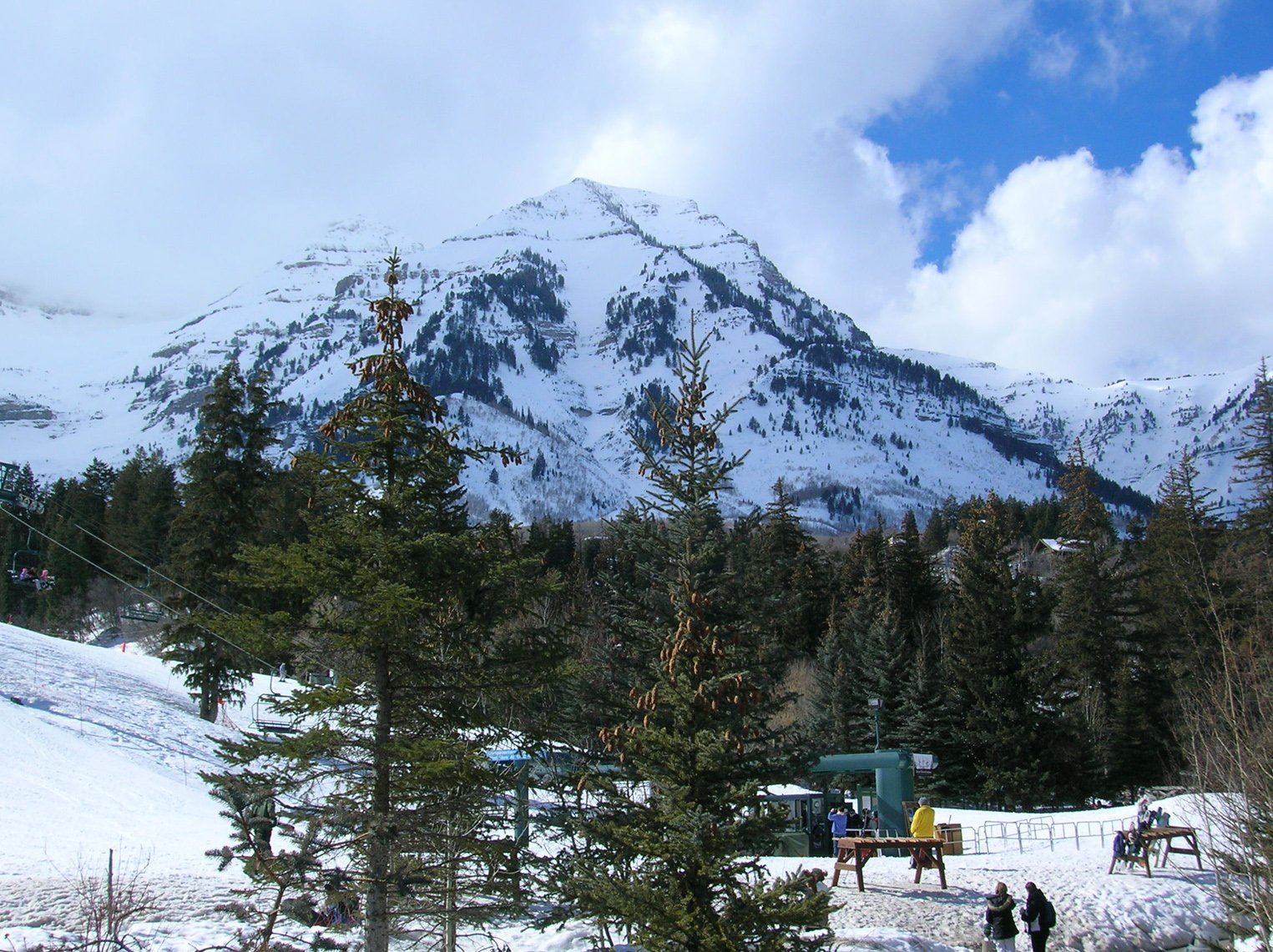 The Sundance Ski Resort is in a picturesque setting at the base of Mount Timpanogos in Utah.