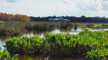 Green Cay Wetlands has a spacious nature center. (Craig Davis/CraigslegzTravels)