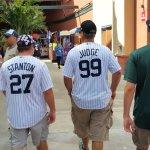 Yankees fans at Jupiter's Roger Dean Stadium when their team visits the Marlins for an exhibition game. (Craig Davis/Craigslegztravels.com)