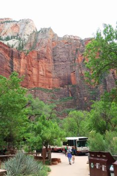 Free shuttle buses stops at eight points in Zion Canyon. (Craig Davis/Craigslegztravels.com)