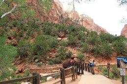 Trail near Zion Lodge leads to the Emerald Pools. (Craig Davis/Craigslegztravels.com)