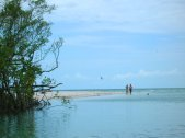 The lagoon inside Clam Pass Inlet is shallow enough for wading. (Craig Davis/Craigslegztravels.com)
