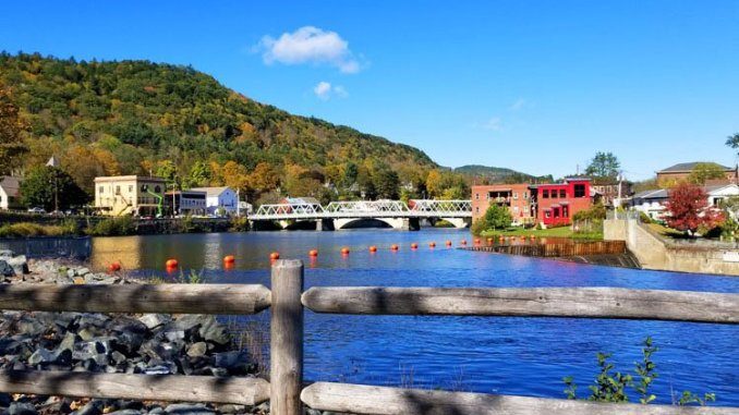Historic Shelburne Falls is a colorful stop on the Mohawk Trail in western Massachusetts, featuring the Bridge of Flowers. (Fran Davis/CraigslegzTravels.com)