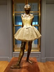 """Edgar Degas' """"Little Dancer Aged Fourteen"""" received mixed reviews when it debuted in 1881. The sculpture is on display at the Clark Insitute of Art in Williamstown, Mass. (Fran Davis/CraigslegzTravels.com)"""