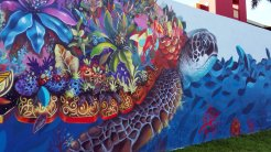 Colorful murals give life to drab walls in the Hollywood (Fla.) Downtown Mural Project. (Craig Davis/CraigslegzTravels.com)