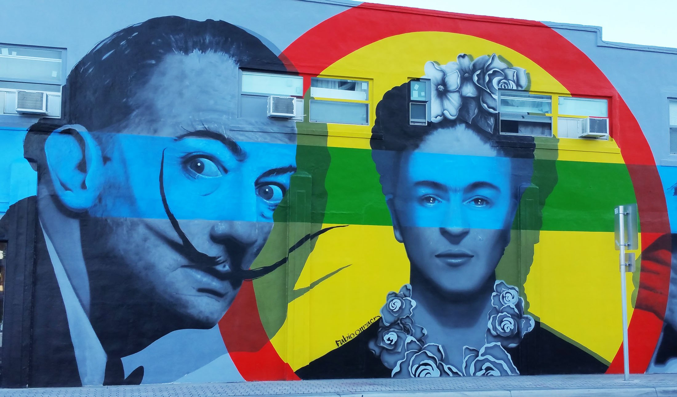 Mural depicting artisits Salvador Dali and Frida Kahlo lend distinction to the Hollywood (Fla.) Downtown Mural Project. (CraigslegzTravels.com)