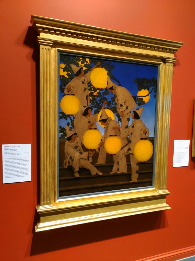 """Maxfield Parrish's """"Lantern Bearers"""" was part of a special exhibit at the Norman Rockwell Museum in 2018. (Craig Davis/Craigslegztravels.com)"""