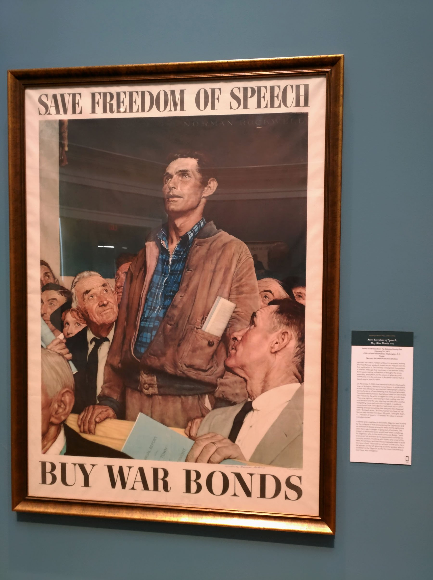 Norman Rockwell's illustration of the Four Freedoms espoused by President Franklin Roosevelt at among his most famous work. (Craig Davis/Craigslegztravels.com)