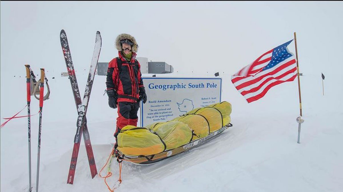 Colin O'Brady reached the South Pole on the 42nd day of his journey across Antarctica. (Colin O'Brady/Instagram)